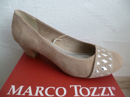 Marco Tozzi Pumps Slipper Trotteur Ballerina beige sand NEU!