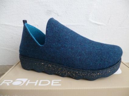 Rohde Damen Hausschuh Hausschuhe Softfilz blau NEU!!