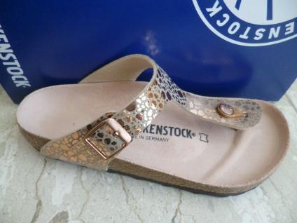 Birkenstock Gizeh Zehen Trenner Pantolette Metallic Stones Copper 1005674 NEU!
