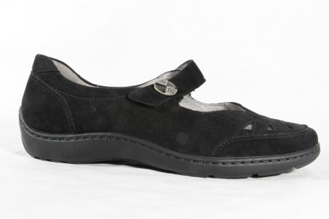 Waldläufer Damen Slipper Ballerina schwarz Leder Schuhe Lederwechselfußbett NEU! Beliebte Schuhe Leder d0fab1