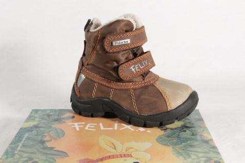 Felix Knaben Polar Tex Stiefel Stiefeletten Boots Winterstiefel Leder braun NEU