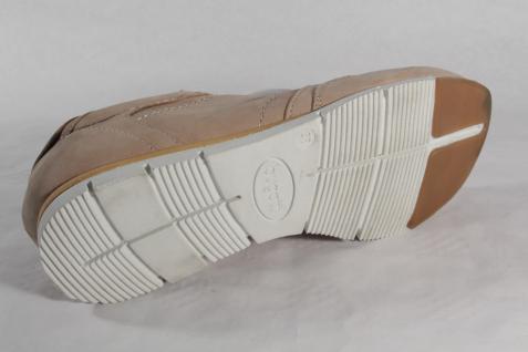 Bugatti Leder Damen Schnürschuhe Sneakers Halbschuhe Leder Bugatti beige NEU! Beliebte Schuhe 6132cf