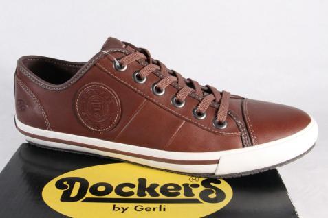 Dockers Sneakers Schnürschuh Schnürschuhe Sneakers Dockers Halbschuhe braun, Echtleder NEU! d7b207