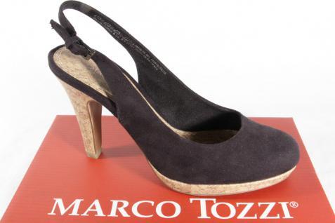 Marco schwarz, Tozzi Damen Sling/ Sandale, schwarz, Marco Velouroptik, Ledersohle, NEU!! 898e77