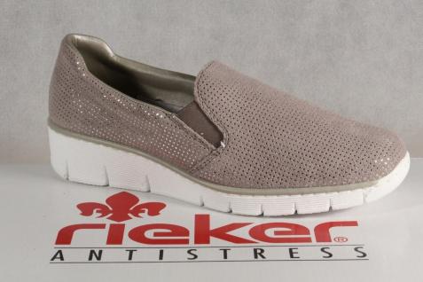Rieker Slipper Ballerina Sneakers Halbschuhe Sportschuhe Ballerina Slipper grau 53766 NEU 4b8466