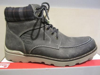 Rieker Stiefel zum Schnüren, grau, Leder, warm gefüttert, 31402 NEU