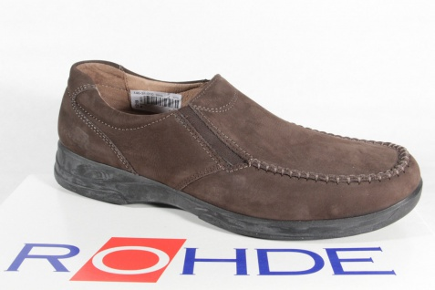 Rohde Herren Slipper Halbschuhe Sneaker braun NEU!