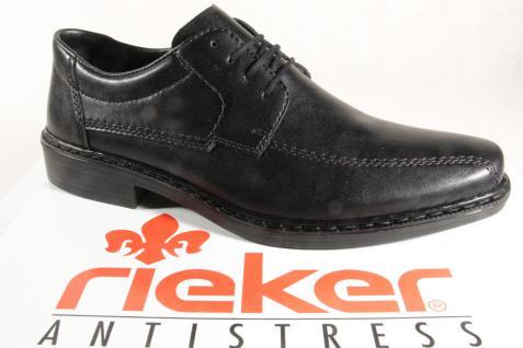 Rieker Herren Schnürschuhe, Halbschuhe B2305 Sneakers schwarz NEU!