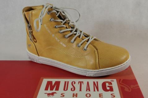 Mustang Stiefel Stiefeletten Stiefelette Schnürstiefel Boots gelb 1349 NEU