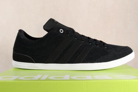 Adidas Schnürschuhe Sneakers Halbschuhe Sportschuhe CAFLAIRE Leder schwarz NEU! - Vorschau 2