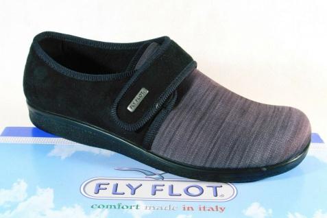 Fly Flot Herren Hausschuhe Hausschuh Pantoffel grau Textil NEU!!