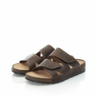 Rieker Pantoletten Pantolette Sandale Sandalen Hausschuhe braun Leder 25691 NEU!