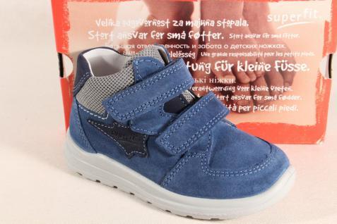 Superfit Jungen LL-Stiefel blau Neu Lederfußbett 00325 Neu blau !!! e08682