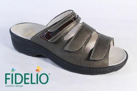 Fidelio Damen Pantoletten 23423 Pantolette Pantoffel bronze Leder 23423 Pantoletten NEU! 6f8eb5