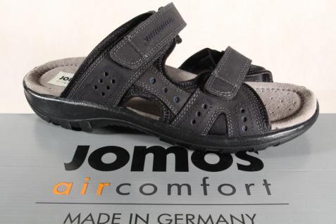 Jomos Herren Pantolette Pantoletten Echtleder schwarz 504610 Neu!