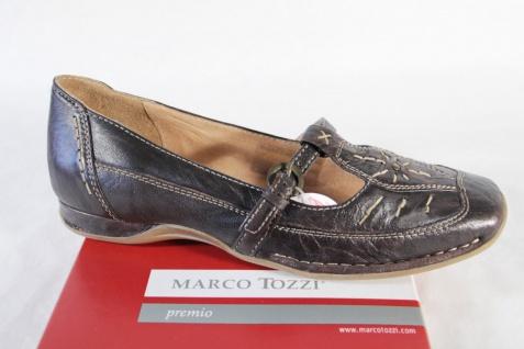 Marco Tozzi Damen Slipper, Lederinnensohle braun, Gummisohle, weiche Lederinnensohle Slipper, NEU! 963339