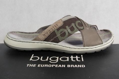 Bugatti Herren Pantoletten Clogs Pantoffel NEU! Pantolette Echtleder oliv NEU! Pantoffel 5d3164