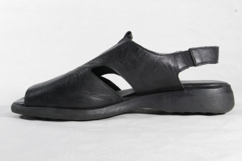 Manas Damen Sandaletten Sandalen Sandaletten Damen Echtleder schwarz NEU!! 48bdd6