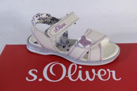 S.Oliver Mädchen Sandale NEU!! beige/ viola, Lederinnensohle, flach NEU!! Sandale 8505bb