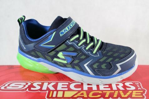 Skechers Sneaker Schnürschuh Sportschuh blau/ grün/ weiß weiche Innensohle NEU