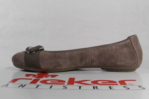Rieker Echtleder Damen Ballerinas Slipper Halbschuhe Echtleder Rieker braun 41480 NEU! 175eb1