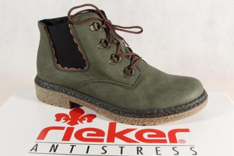 Rieker Damen Boots Stiefel Stiefeletten grün 53234 NEU!