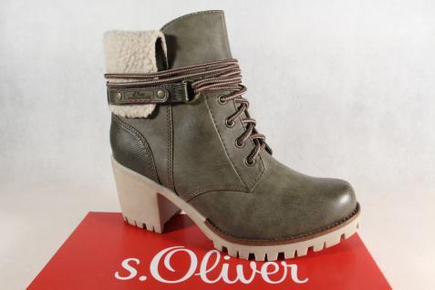 S.Oliver khaki 26115 Stiefel, Stiefeletten Winterstiefel khaki S.Oliver NEU! 5ba0d3
