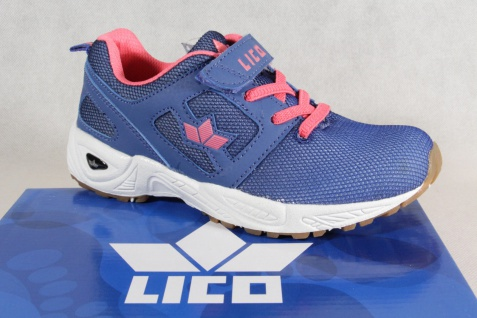 Lico Mädchen Sportschuhe Halbschuhe Schnürschuhe Sneakers blau/pink NEU!