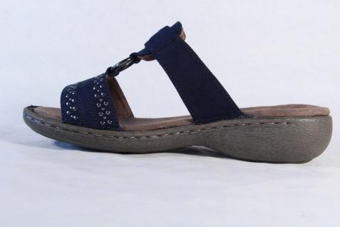 Jenny Klettverschluß Damen Pantolette Pantoletten blau, Klettverschluß Jenny NEU! f5fb28