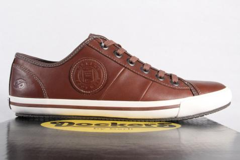 Dockers braun, Schnürschuh Schnürschuhe Sneakers Halbschuhe braun, Dockers Echtleder NEU! d473d4