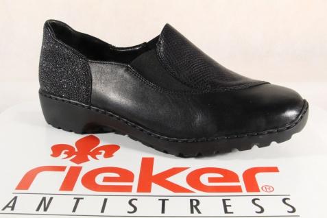 Rieker schwarz Damen Slipper Halbschuhe Ballerina schwarz Rieker , L6064 Neu!!! 13a837
