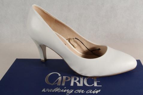 Caprice Pumps Ballerina Slipper weiß Echtleder weiche Innensohle NEU!
