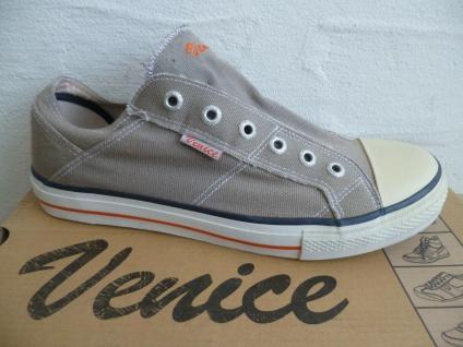 Venice Slipper Halbschuhe Sneakers Sneaker grau Leinen NEU