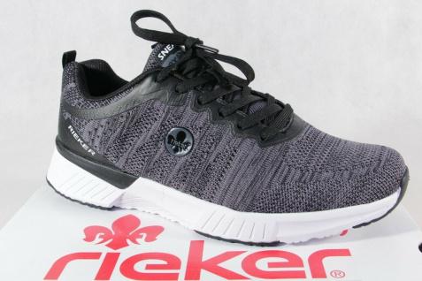Rieker Sneaker Sneakers Schnürschuhe Slipper Halbschuhe grau B9800 NEU!!