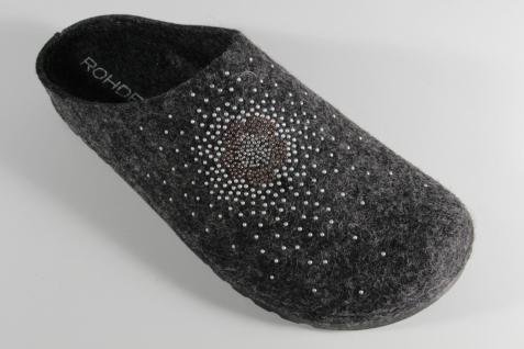 Rohde Damen Pantoffel, NEU!! Softfilz, grau Fußbett 6008 NEU!! Pantoffel, 85a60e
