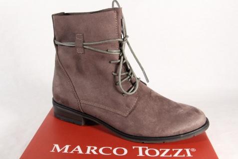 Marco Tozzi Damen Stiefel Stiefeletten Schnürstiefel, Boots grau 25112 NEU!