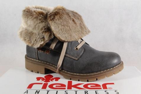 Rieker-Tex Schnürstiefel grau, Stiefelette, Stiefel, grau, Schnürstiefel Schurwollfutter Y9122 NEU e5bc16