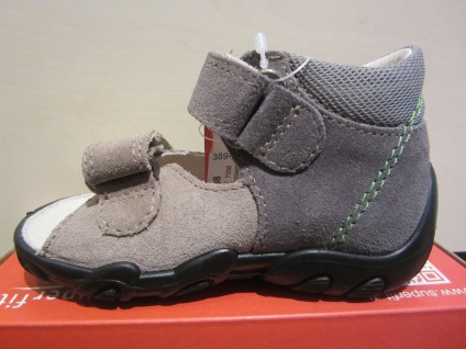 Superfit LL - Sandale Sandalette grau/beige/grün !!! Leder KV Lederfußbett Neu !!! grau/beige/grün Beliebte Schuhe 2ce6e6