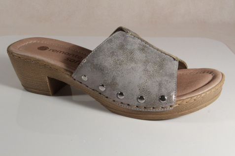 Remonte Pantoletten Pantolette Hausschuh Lederfußbett D6957 grau Lederfußbett Hausschuh NEU! 41e7c9
