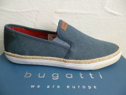 Bugatti Sneakers Sneaker Slipper Halbschuhe Sportschuhe blau 50267 NEU!