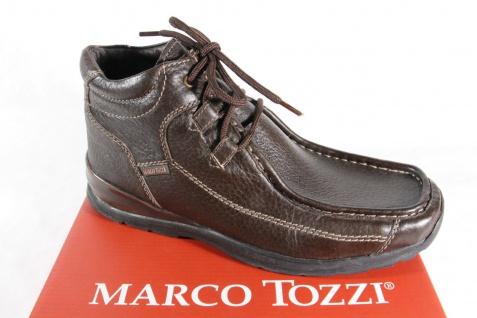 Marco Tozzi Herren Stiefel Schnürstiefel Boots Winterstiefel braun Leder NEU!!
