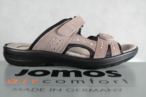Jomos grau Damen Pantolette Sandalen, Sandaletten, grau Jomos Klettverschluß Echtleder NEU! 39958f