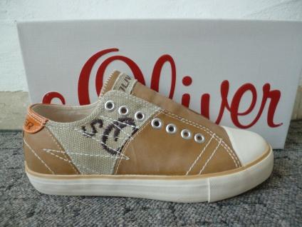 S. Oliver Slipper Sneakers Sportschuhe Halbschuhe braun NEU!