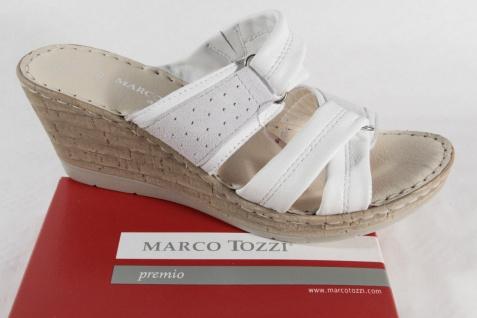 Marco Tozzi weiß, Pantolette, weiß, Tozzi weiche Lederinnensohle NEU! 9560e6