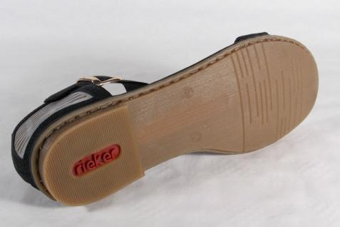 Rieker Damen Sandale Sandalette schwarz, weiche Innensohle, NEU!! Beliebte Schuhe Schuhe Schuhe 724e46