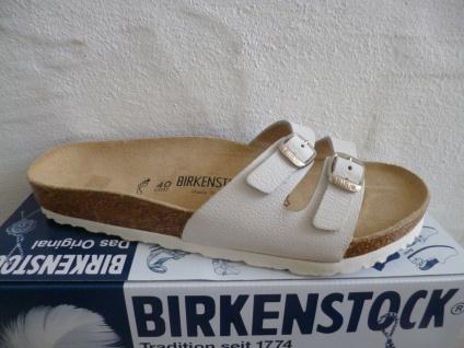 Birkenstock Damen Pantolette Pantoletten weiss Leder NEU!