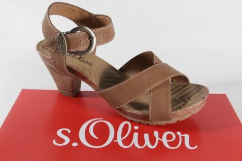 S.Oliver Sandale, braun, Lederinnendecksohle NEU!! NEU!! NEU!! d35b6b