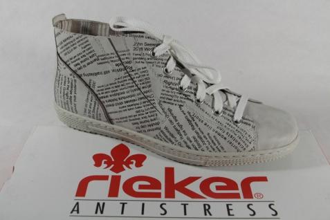 Rieker Damen Schnürschuhe Sneakers Halbschuhe ice (weiß), Wechselfußbett, NEU!