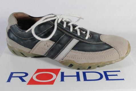 Rohde Schnürschuhe Halbschuhe Sneaker blau/beige NEU!