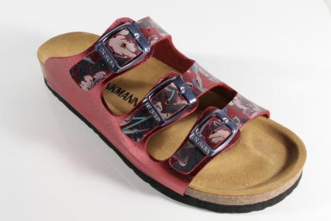 Dr. bordeaux Brinkmann Damen Pantolette Pantoffel bordeaux Dr. metallic NEU! aec22a